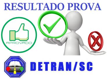 Consulta resultado da prova do DETRAN/SC