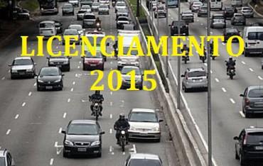 Licenciamento de veículos 2015